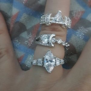 Jewelry - 3 fashion rings size 6- 6.25